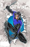 Nightwing #0 in blue by rxlthunder