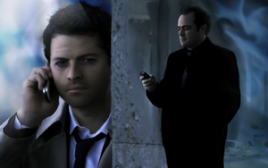 Supernatural - Castiel Crowley by Golbeza