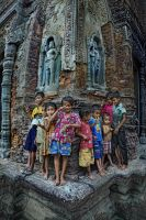 POOR but HAPPY KIDS by SAMLIM