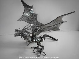Metal Crouching Dragon by Kreatworks
