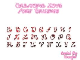 Craftopia Love Font Brushes by krystalamber2009