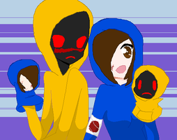 Dead Silent and Hoodie! [Puppets] by RubytheCat12