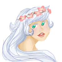 Commission: Pink Dogwoods in Her Hair by RosyAutumn