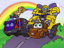 Raf and Bumblewhee NO SPOILERS by RazzieMbessai