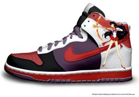 sailor mars high top dunks by mannepussie