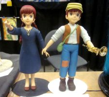 Pazu and Sheeta Laputa figures AWA by TeenTitans4Evr