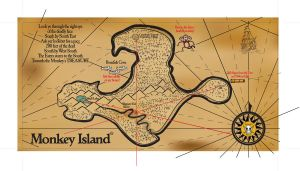 Monkey Island Map by tolemach