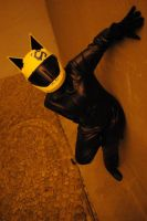 Leaning Celty by NotAStupidCat