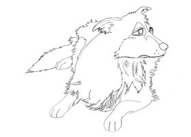 Kitara the wolfhound - sketches. 116 by MortenEng21