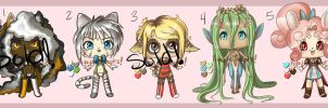 Mixed Anthro Chibis - Points or Cash [OPEN 2/5] by ayayue-adopts