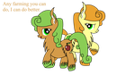 Carrot Top and Apple Top by DinkyUniverse