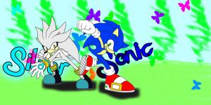 Silver And Sonic :D by Azephyria