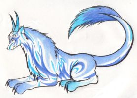 Arashi: wolf dragon by WaffleMistress