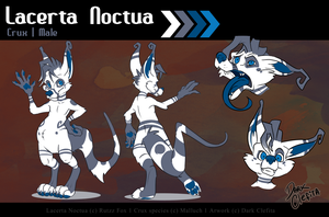 Lacerta Noctua - Reference sheet by Dark-Clefita