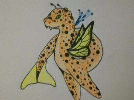 Whale, cheetah, snake, butterfly by EleeArt