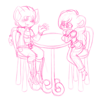 ExpComm Lunch Date by FreckledAndSpeckled