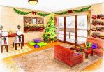Xmas room by victory-a13