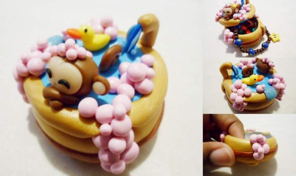 Bubble Bath Saru-Hime Trinket Box by Saru-Hime