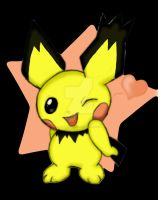 Spiky-eared Pichu by masterkitsune