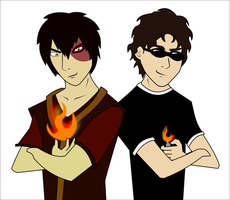 Enigma and Zuko by happyzuko