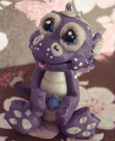 polymer clay dragon ooak Taner by crazylittlecritters