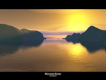Mountain Sunset by assemble