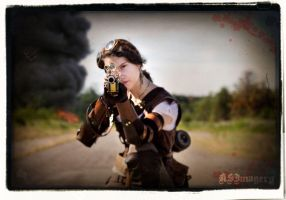 Steampunk Riflewoman by ksmith3620
