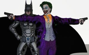 Joker e Batman by hiram67