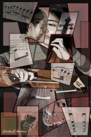The Cello Player - Cubism by CecilyAndreuArtwork