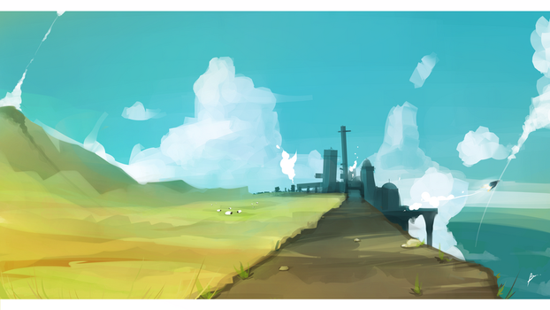 Landscape try #2 by Illuday