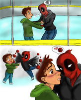 Ice Skating (Spideypool) by Chitanzer