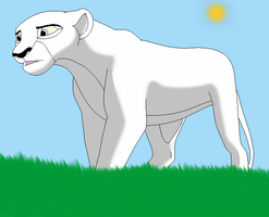 Snow the white lioness by lilliethecat