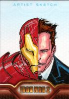Iron Man 2 sketchcards 6 by SpiderGuile
