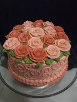 Pink Rose Cake by Nimhel