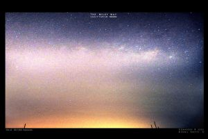 Milky way and city lights by Swaroop