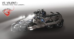 Sci fi pickup concept by Destructiconz