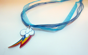 Rainbow Dash Necklace by sterlingsilver