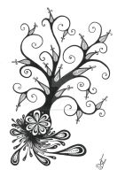 Curly tree by Infernal-Creature