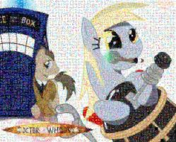 Doctor Whoofs_Derpy mosaic by Lacon-te