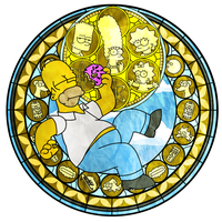 KH Stained Glass - Homer Simpson by MrPr1993