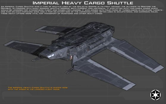 Imperial Heavy Cargo Shuttle ortho [2][New] by unusualsuspex