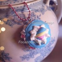 Kawaii Macaron necklace by FocaccinaDesign by MGFM