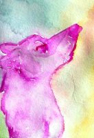 Rainbow Fae Wolf ACEO by Erinwolf1997