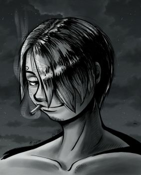Redone Sanji 3 - Greyscale Color by AnimeGirlMika