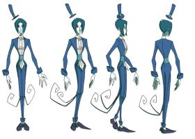 Man From the Moon model sheet by Springymajig