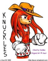 The First CG - Knuckles by indilee