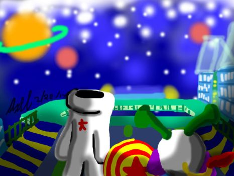A Glove, An Alien, and a Ball IN SPACE! by AxelDK64