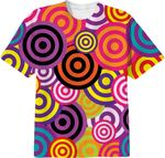 Retro circles all over print t-shirt by lalylaura