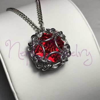 Captured Swarovski Pendant by NephsJewelry