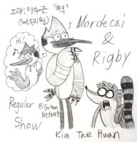 Mordecai and Rigby! by komi114